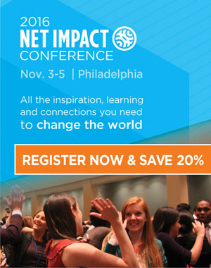 Register for the 2016 Net Impact Conference