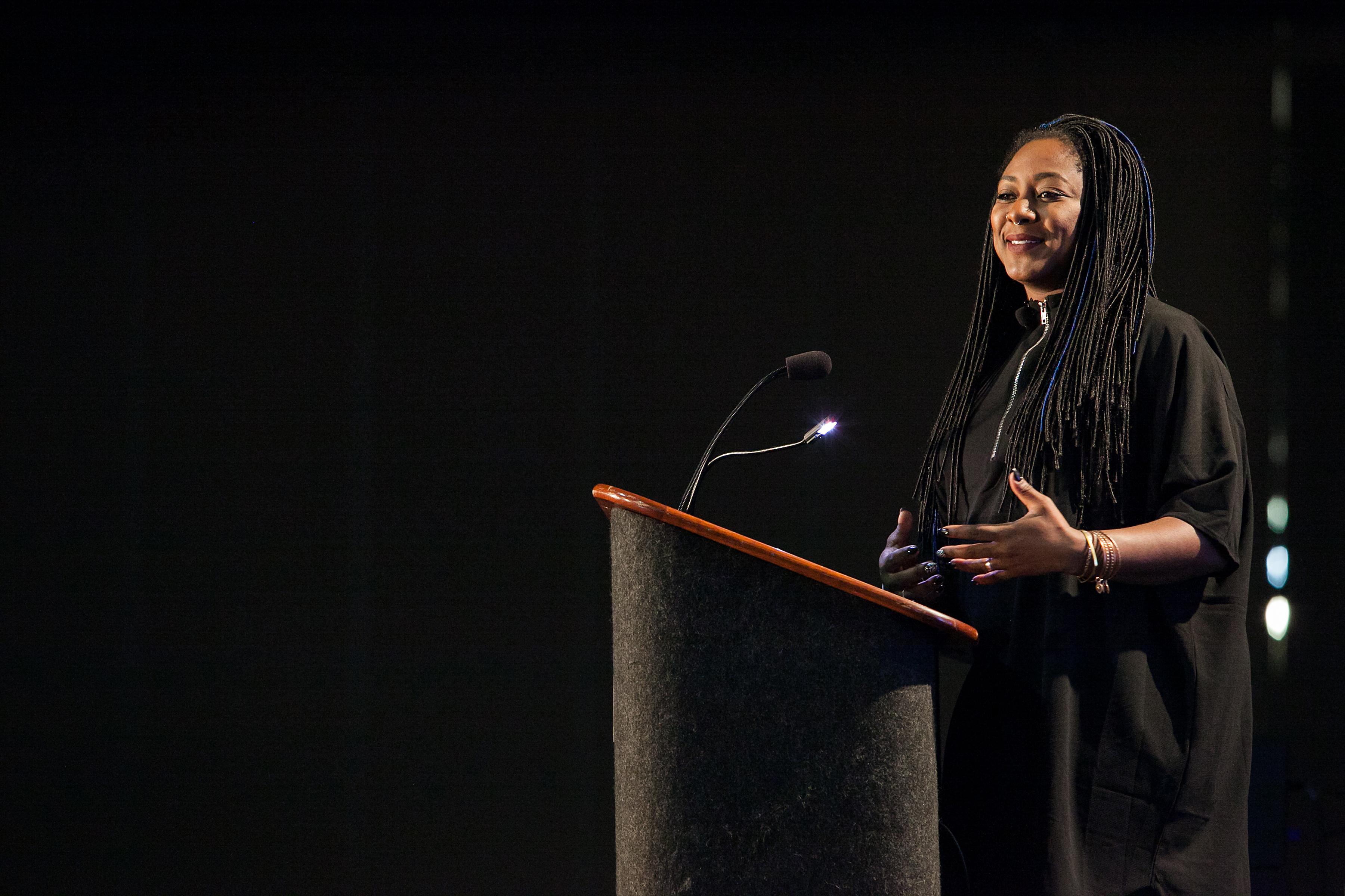 Alicia Garza speaks at NI16