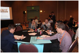 Students participating in Amcor's hands-on workshop at 2014 Net Impact Conference in Minneapolis