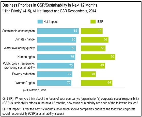 Business Priorities in CSR/Sustainability in Next 12 Months