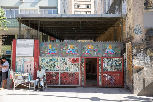 The empty storefront which will become the community food hub. Source: How the Olympic Village Will Feed Favelas, Citylab.com.